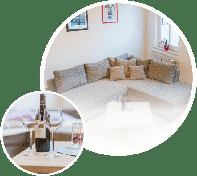 ferienwohnung sofa